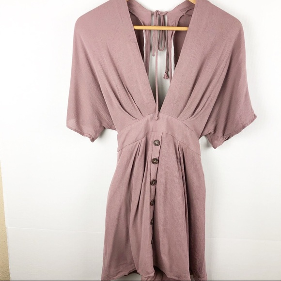 Windsor Dresses & Skirts - Windsor Mauve Pink Boho Mini Dress Small